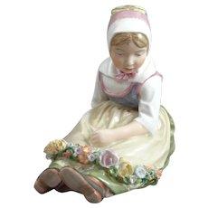Royal Copenhagen Over-Glaze Figurine Sealand Girl #12418
