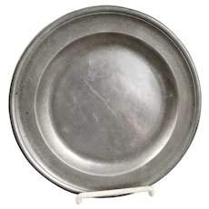 RARE Antique American 8 1/2 Pewter Plate By John Skinner Boston Mass 1733 - 1813