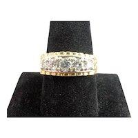 1.18ctw Men's Diamond Wedding Band 14k Yellow Gold Size 10.50 Ring