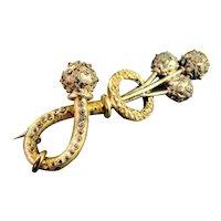 Victorian Gold Filled Brooch Pin Ca 1885