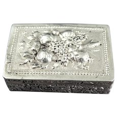 Antique .800 Silver Italian Snuff Box