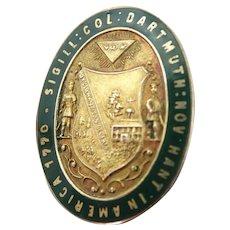 Vintage 10K Dartmouth College Lapel Pin