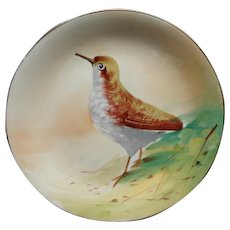 Antique B & H Blakeman & Henderson Limoges Game Bird Cabinet Plate Signed Max