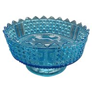 EAPG Richards & Hartley Blue Thousand Eye 3 Panel Large Footed Serving Dish