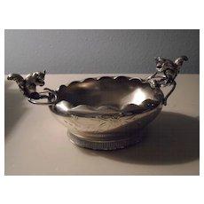 Figural/Squirrels on Vintage Quadruple Plate Bowl