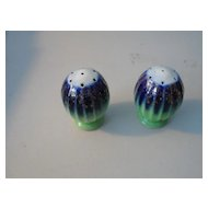 Ground Green and Flow Blue Salt & Pepper Shakers
