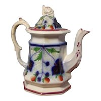 Strawberry Brush Stroke Teapot with luster