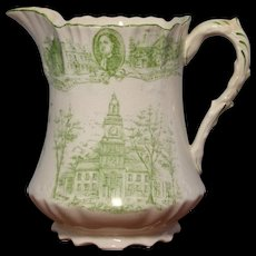 Green and White Jug - 1800's