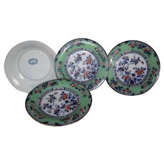 Ground Green and Flow Blue plates from England