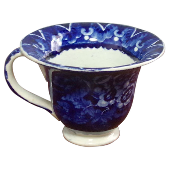Staffordshire Dark Blue Custard Cup