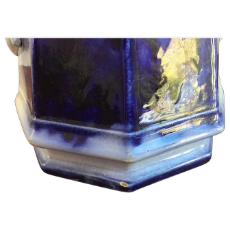 English Flow Blue Pottery
