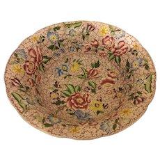 Floral, Multi, Large Punch or Fruit Bowl