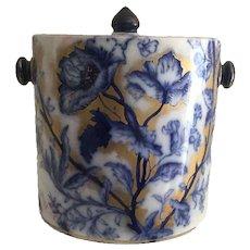 Flow Blue Biscuit Jar