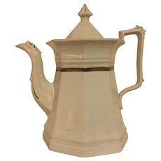 Ironstone Coffee Pot