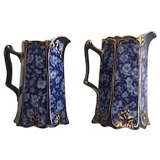 Flow Blue Wedgewood Jugs