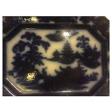 Flow Blue Platter - by Jojn Adams