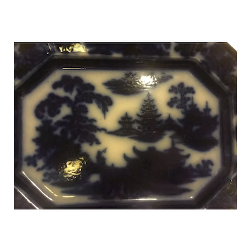 Flow Blue Platter - by John Adams