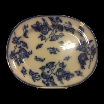 Flow Blue Convolvus Platter