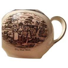 Teapot - England Brown/White