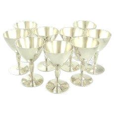 Tiffany Sterling Silver Martini Glasses Set of Ten