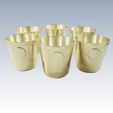 Sterling Silver Cups Beakers Art Deco Style by Fabian 36 Troy Ounces