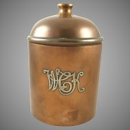 Heintz Art Metal Bronze & Sterling Silver Humidor  Arts & Crafts