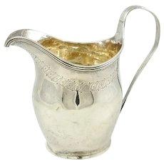 Antique Georgian Sterling Silver Creamer Jug