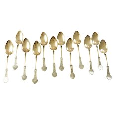 Gorham Sterling Silver Spoons in Corinthian Patter, Set of Twelve After Dinner Spoons