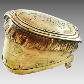 Antique Brass Inkwell in the Form of a Horse's Foot