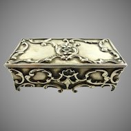 Antique Gorham Sterling Silver & Gilt Stamp Box