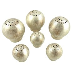 Chase Salt and Pepper Spheres Designed by Russell Wright Art Deco