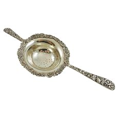 Kirk & Sons Sterling Silver Tea Strainer Repousse Pattern