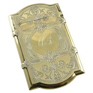Antique Sterling Silver & Gilt Card Case Gorham