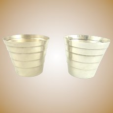 cc83608a9311 Tiffany Sterling Silver Shot Cups. York Cottage Antiques
