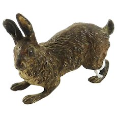 Antique Austrian Cold Painted Figurine in Form of Rabbit