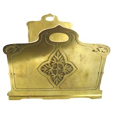 Antique Brass Book Ends Expanding & Collapsible Art and Crafts Era
