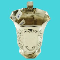 Antique Child's or Baby's cup American Coin Silver C 1860