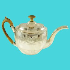 George III Sterling Silver Teapot by Smith & Hayter,  London 1804