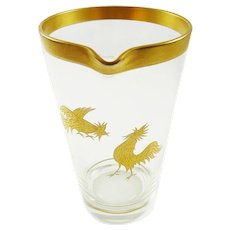 Vintage Cocktail Mixer With Gold Birds Barware