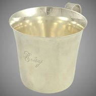 "Sterling Silver Baby Cup by Lunt Engraved ""Betsy"""