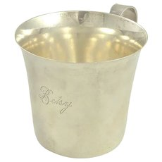 """Sterling Silver Baby Cup by Lunt Engraved """"Betsy"""""""