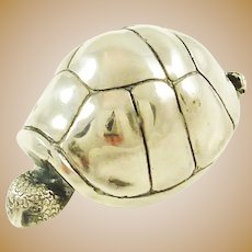 Sterling Silver Turtle Figurine by S Kirk & Son