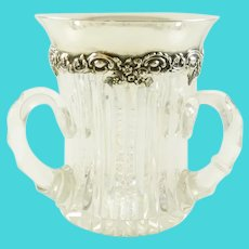 Antique Sterling Silver and Cut Crystal Loving Cup