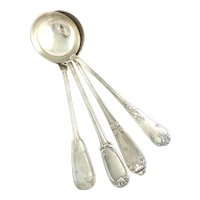 """Antique French Silver Plate Ladles 12 1/2"""" Long"""
