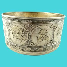 Antique Sterling Silver Child's Bowl Gorham Circa 1880 Christening Gift