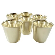 Set of Six Sterling Silver Beakers or Cups International Silver Co Barware 24 Troy Oz