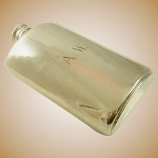 "Large Silver Flask by Meriden Britannia 9"" Tall"