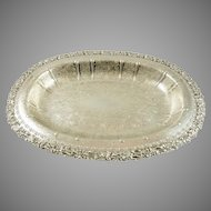 Silver Oval Shallow Bowl Birks Regency Plate of England