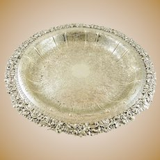 "Silver Shallow Bowl by Birks of England 13"" Diameter"