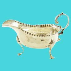 Georgian  Sterling Silver Sauce-Boat, Hallmarked 1772